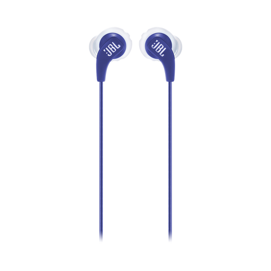 JBL Endurance RUN - Blue - Sweatproof Wired Sport In-Ear Headphones - Front