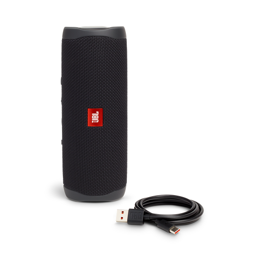 JBL FLIP 5 - Black - Portable Waterproof Speaker - Detailshot 1