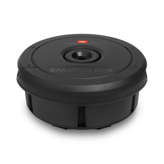 """JBL BassPro Hub - Black - 11"""" (279mm) Spare tire subwoofer with built-in 200W RMS amplifier with remote control. - Detailshot 1"""