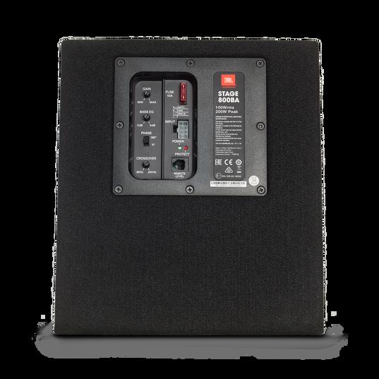 """JBL Stage 800BA Enclosure - Black - Stage Series Powered 8"""" (200mm) Subwoofer System - Back"""