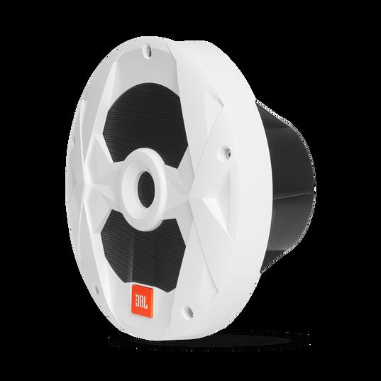 "Club Marine MS10LW - White Gloss - 10"" (250mm) marine audio subwoofer with RGB lighting – White - Left"