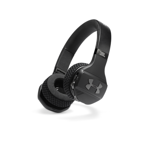 UA Sport Wireless Train – Engineered by JBL - Black - Wireless on-ear headphone built for the gym - Hero