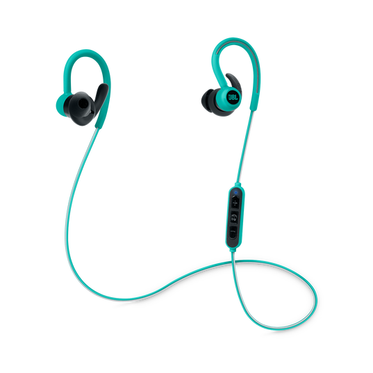 Reflect Contour - Teal - Secure fit wireless sport headphones - Hero