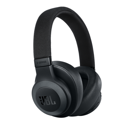 JBL E65BTNC - Black Matte - Wireless over-ear noise-cancelling headphones - Hero