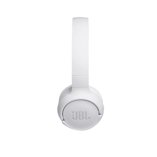 JBL TUNE 500BT - White - Wireless on-ear headphones - Left