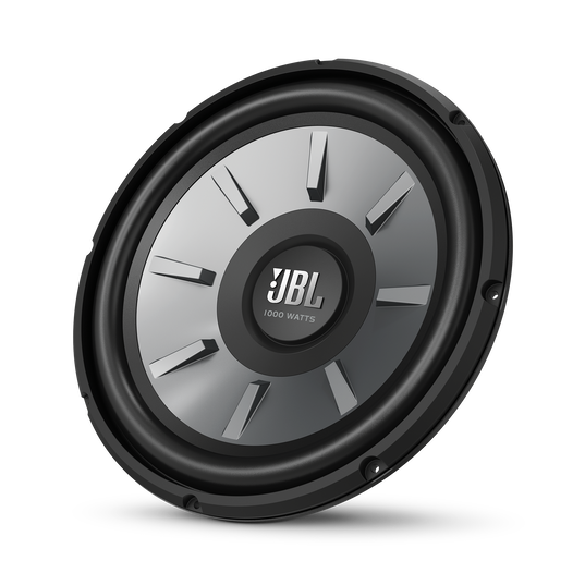 """JBL Stage 1210 Subwoofer - Black - 12"""" (300mm) woofer with 250 RMS and 1000W peak power handling. - Hero"""