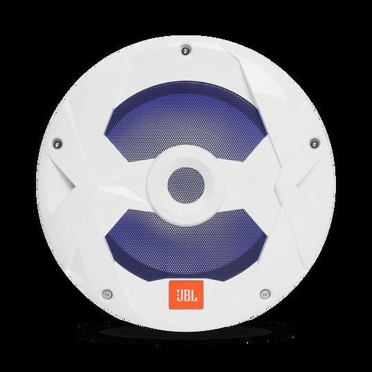 "Club Marine MS10LW - White Gloss - 10"" (250mm) marine audio subwoofer with RGB lighting – White - Detailshot 5"