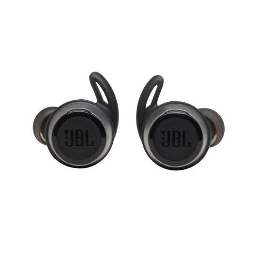 JBL Reflect Flow - Black - Waterproof true wireless sport earbuds - Front