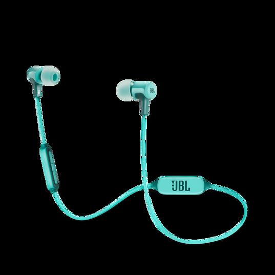 E25BT - Teal - Wireless in-ear headphones - Hero