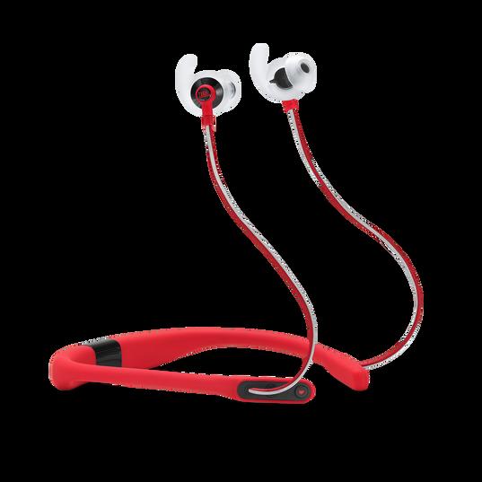JBL Reflect Fit - Red - Heart Rate Wireless Headphones - Hero