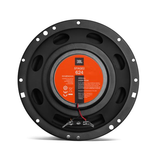 "JBL Stage2 624 - Black - 6-1/2"" (160mm)  Two Way Coaxial Car Speaker - Back"