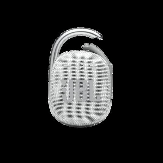 JBL CLIP 4 - White - Ultra-portable Waterproof Speaker - Front