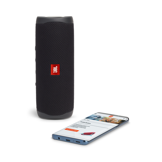JBL FLIP 5 - Black - Portable Waterproof Speaker - Detailshot 2