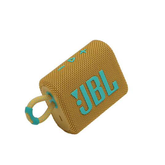 JBL GO 3 - Yellow - Portable Waterproof Speaker - Detailshot 1