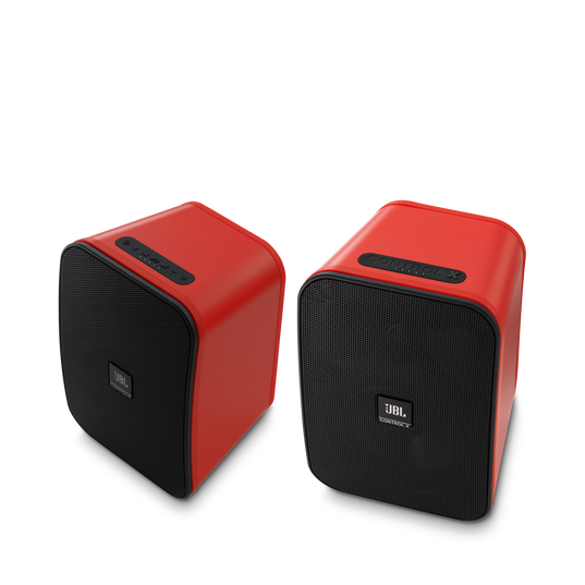 """JBL Control X Wireless - Red - 5.25"""" (133mm) Portable Stereo Bluetooth® Speakers - Hero"""