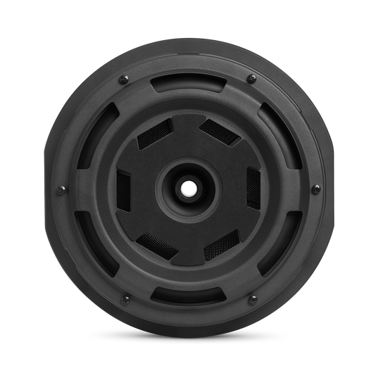 """JBL BassPro Hub - Black - 11"""" (279mm) Spare tire subwoofer with built-in 200W RMS amplifier with remote control. - Back"""
