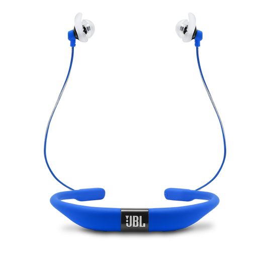JBL Reflect Fit - Blue - Heart Rate Wireless Headphones - Back