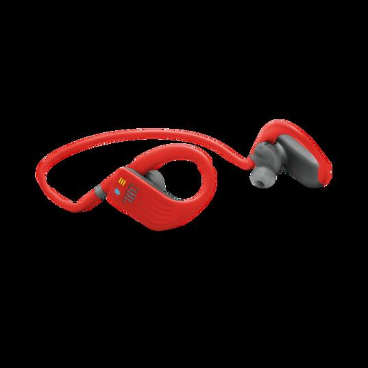 JBL Endurance DIVE - Red - Waterproof Wireless In-Ear Sport Headphones with MP3 Player - Detailshot 4