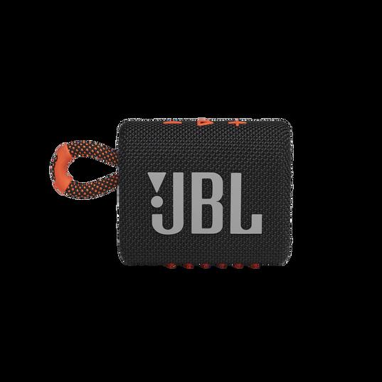 JBL GO 3 - Black / Orange - Portable Waterproof Speaker - Front