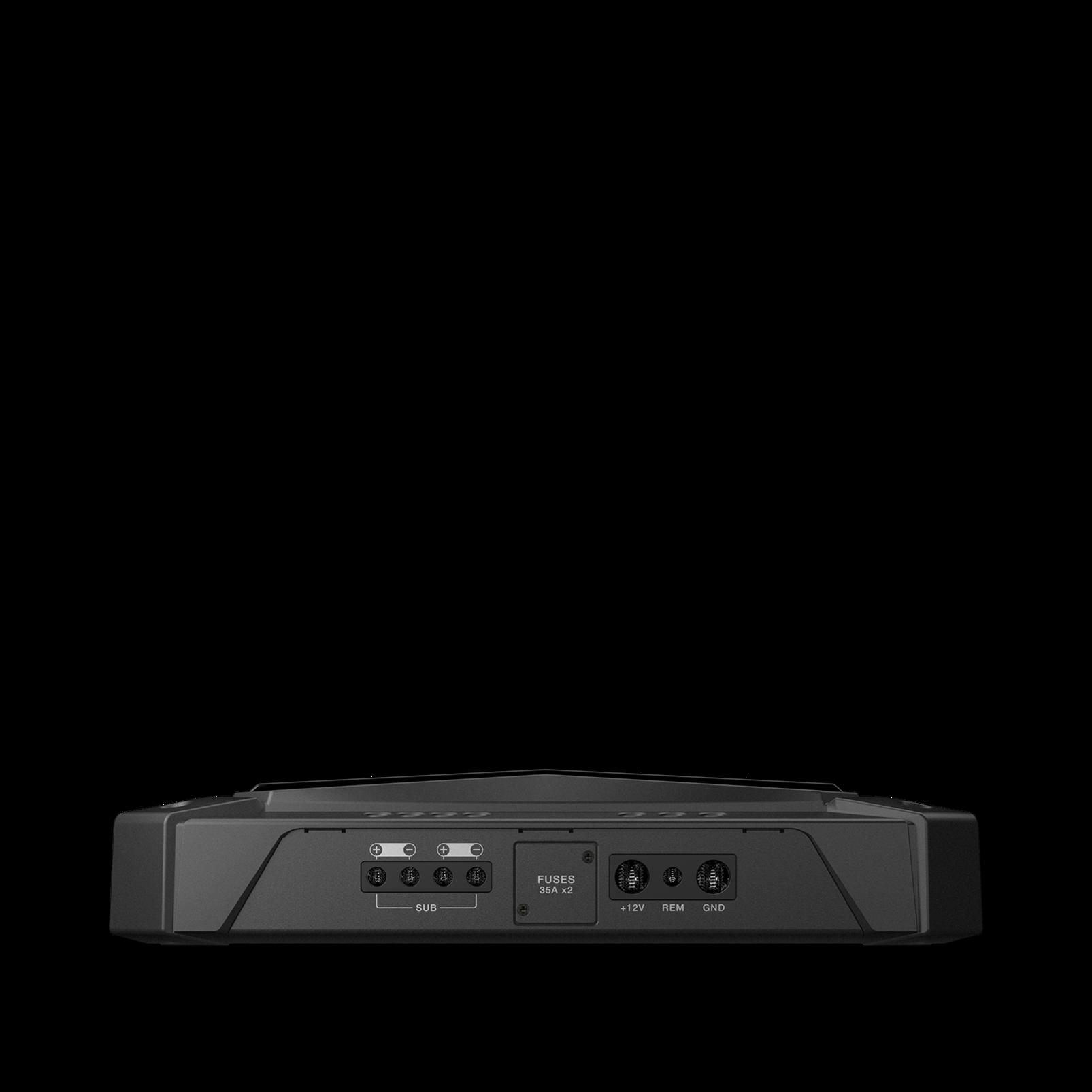 GTR-601 - Black - High Performance Mono Car Audio Subwoofer Amplifier - Detailshot 1