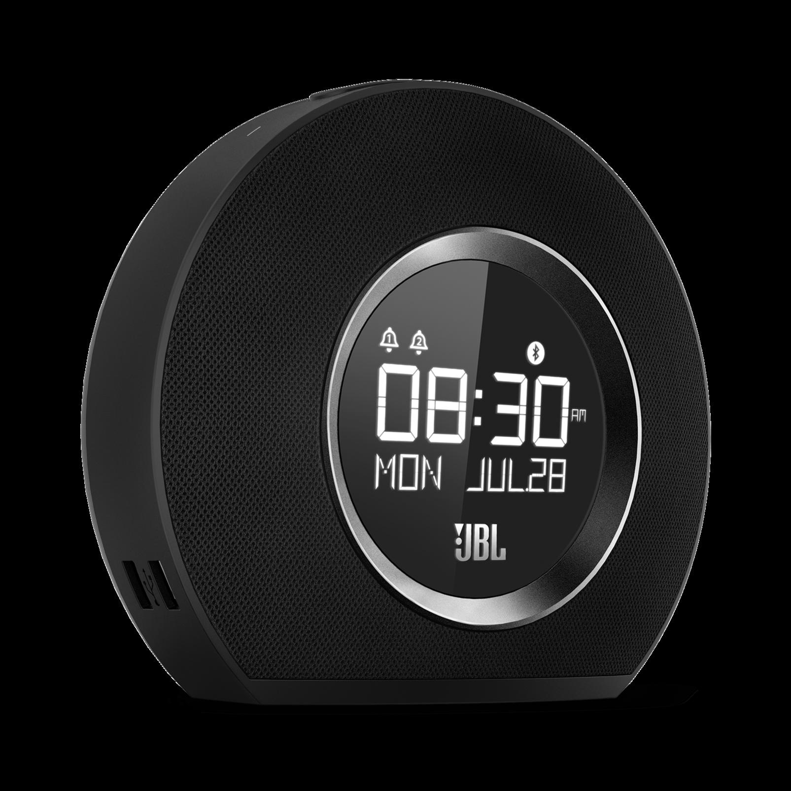 JBL Horizon - Black - Bluetooth clock radio with USB charging and ambient light - Hero