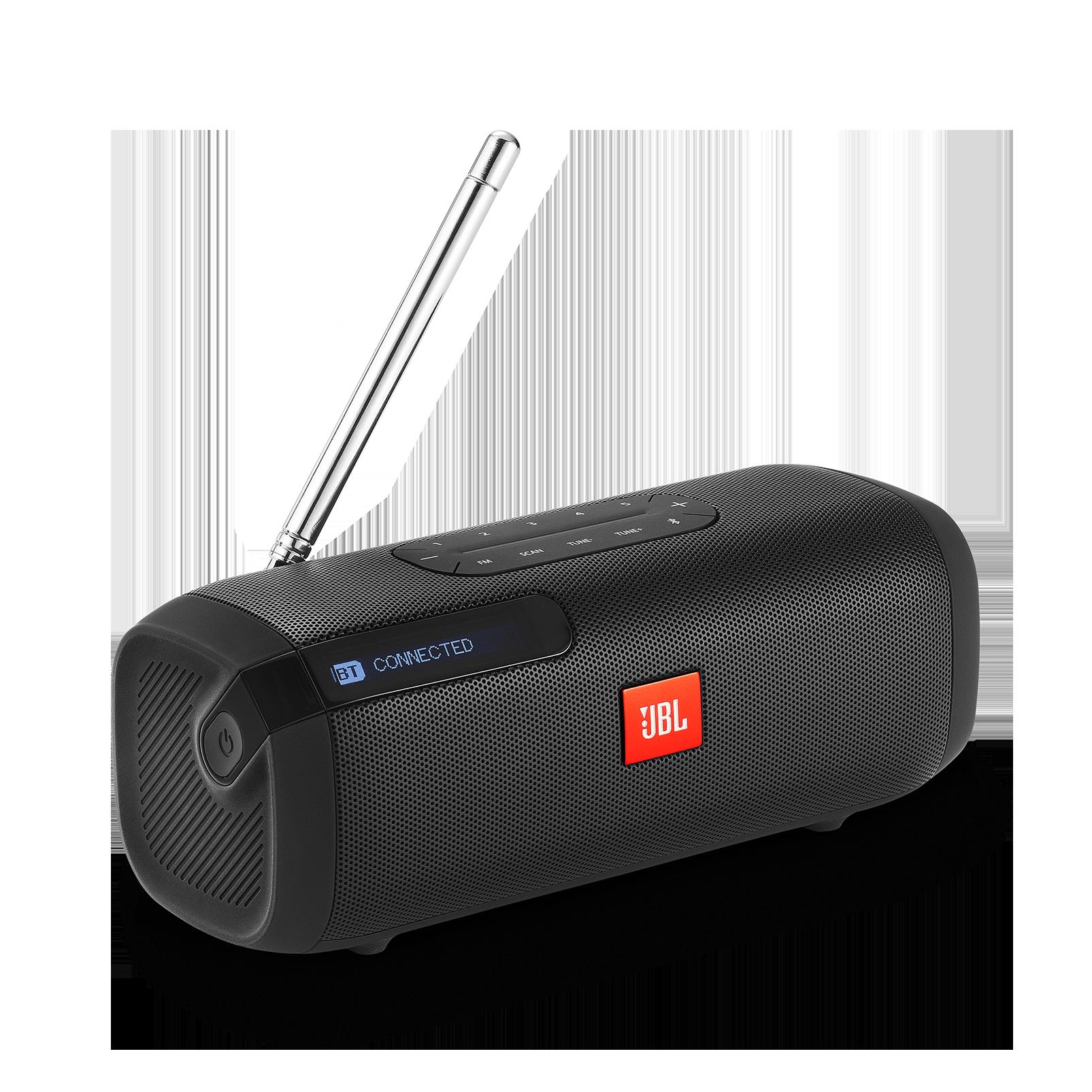 JBL Tuner FM - Black - Portable Bluetooth Speaker with FM radio - Hero