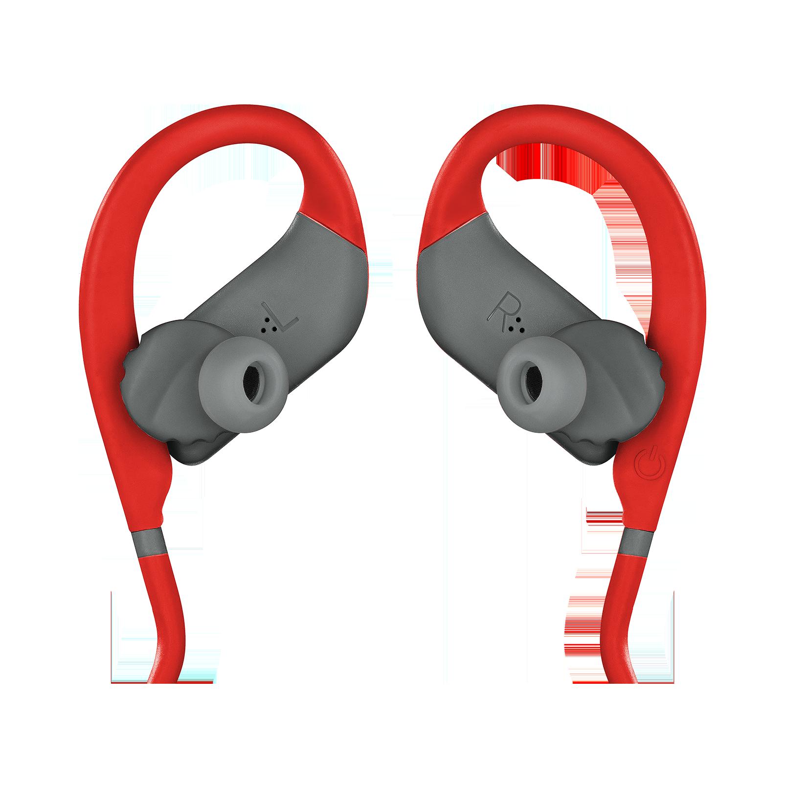 JBL Endurance JUMP - Red - Waterproof Wireless Sport In-Ear Headphones - Detailshot 3