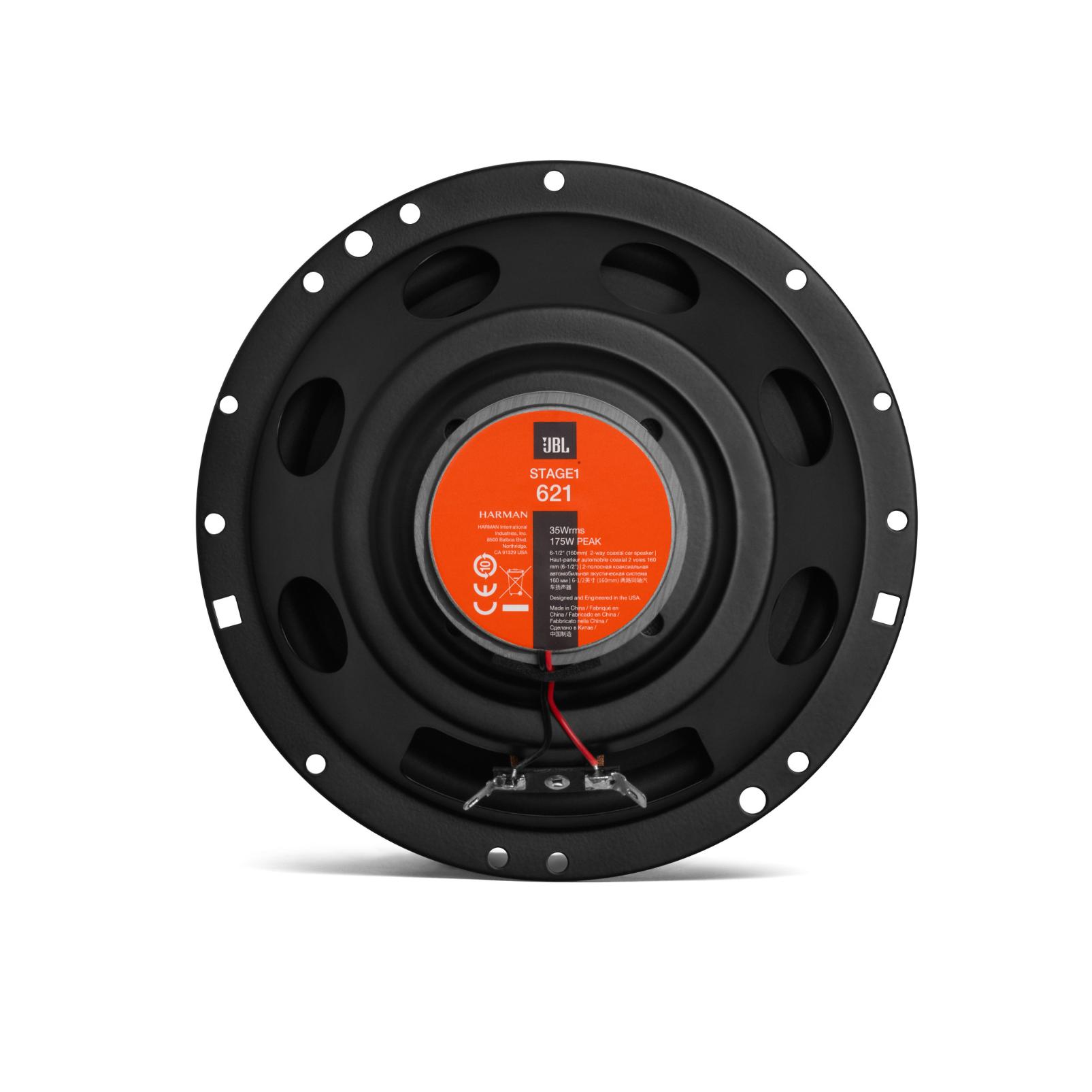 """JBL Stage1 621 - Black - 6-1/2"""" (160mm)  Two Way  Car Speaker - Back"""