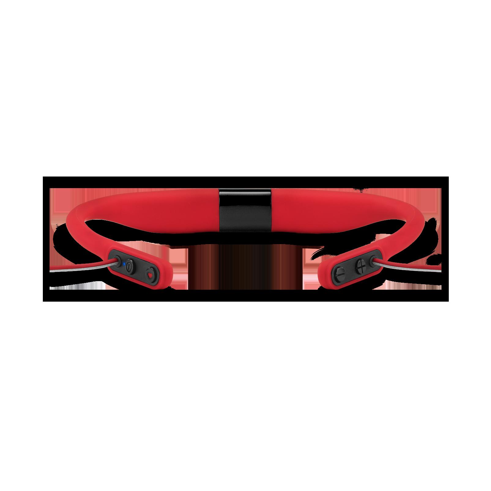 JBL Reflect Fit - Red - Heart Rate Wireless Headphones - Detailshot 2