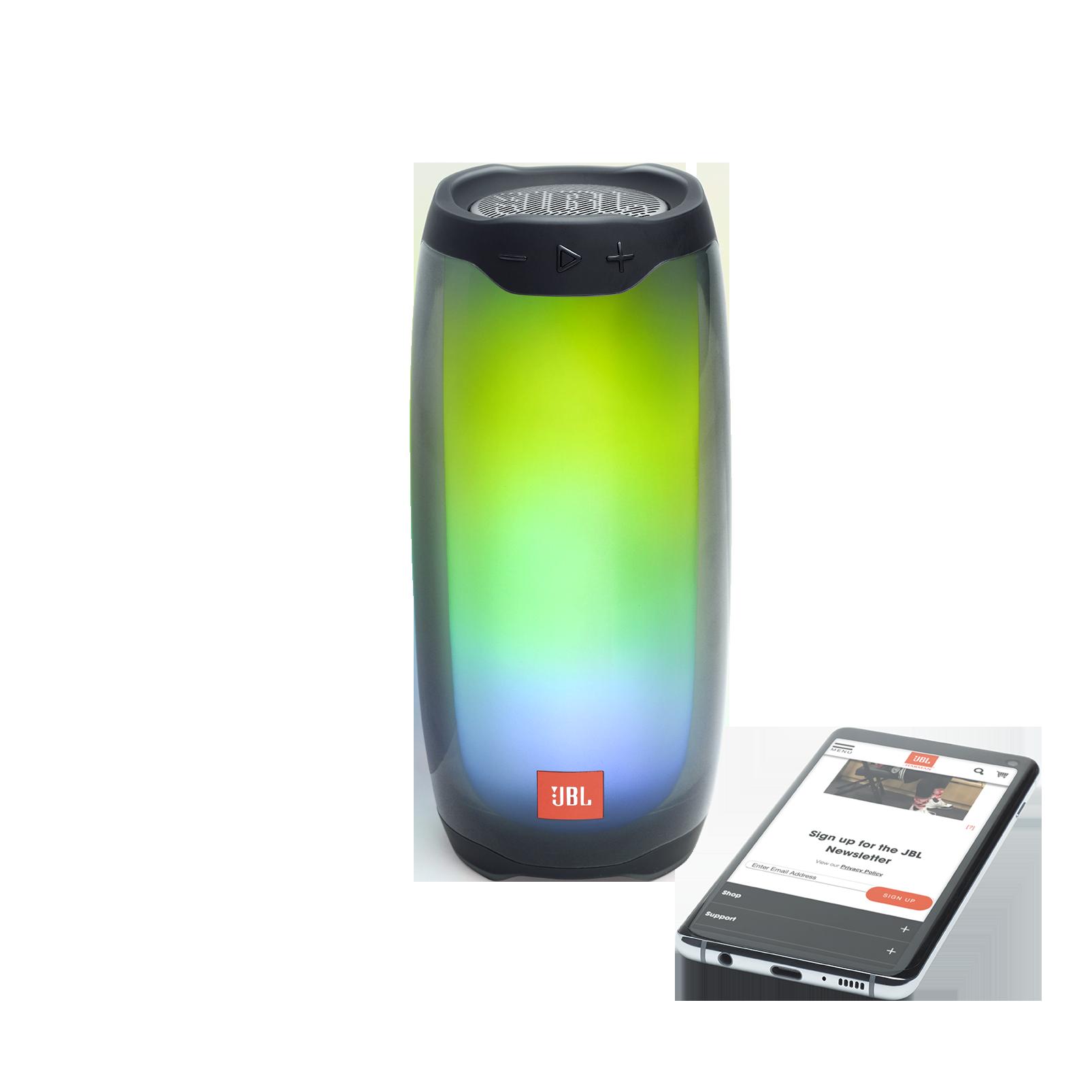 JBL Pulse 4 - Black - Portable Bluetooth Speaker - Front