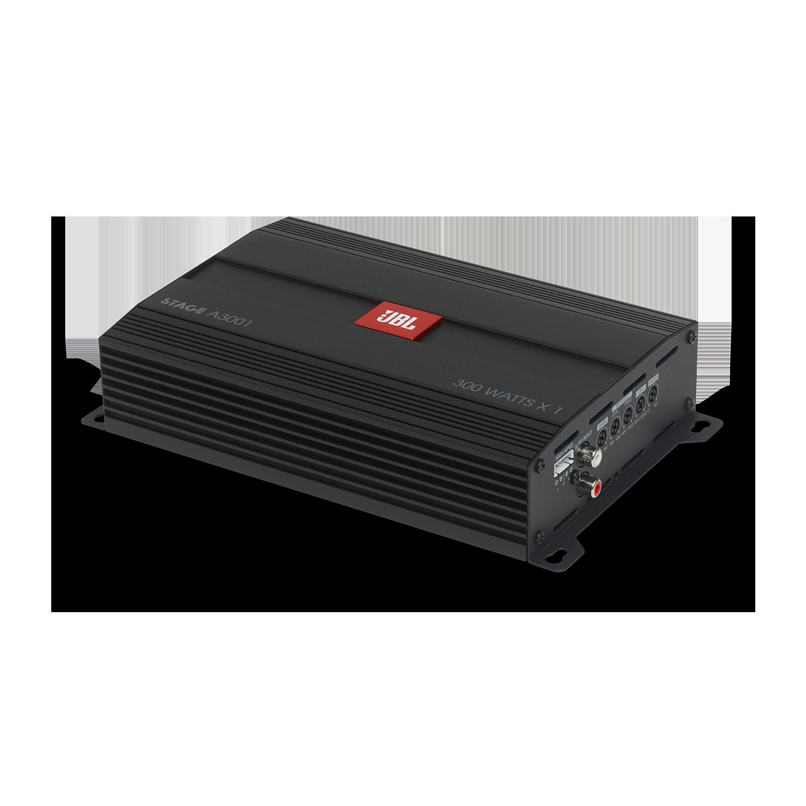 JBL Stage Amplifier A3001 - Black - Class D Car Audio Amplifier - Hero