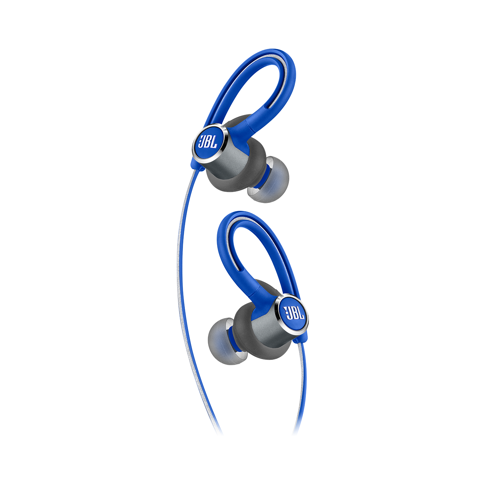 JBL Reflect Contour 2 - Blue - Secure fit Wireless Sport Headphones - Detailshot 1