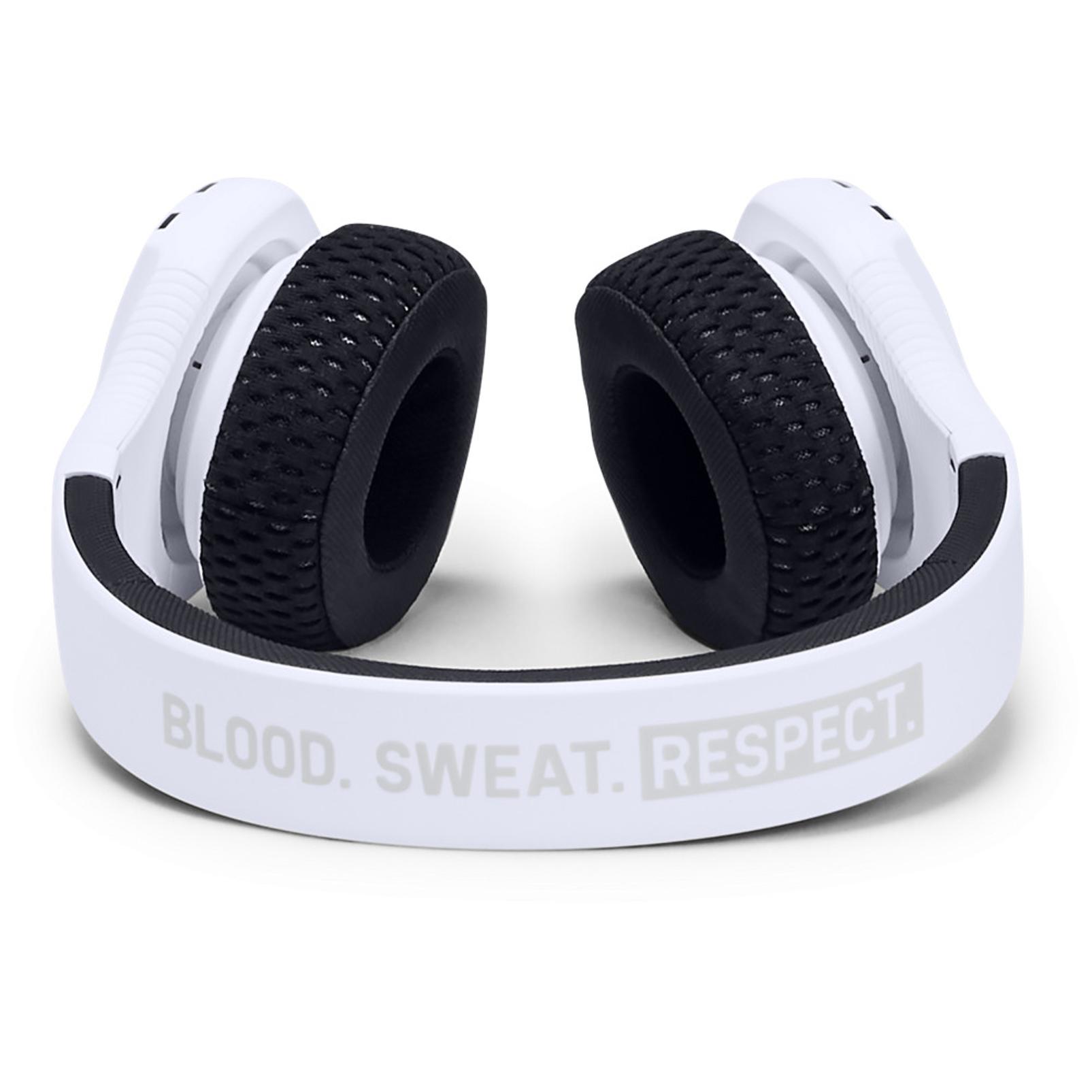 UA Sport Wireless Train Project Rock – Engineered by JBL - White - On-ear sport Headphones - Detailshot 1